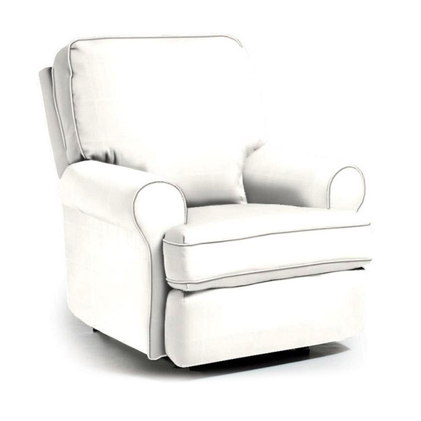 Best Chairs Tryp Swivel Glider Recliner in Ecru