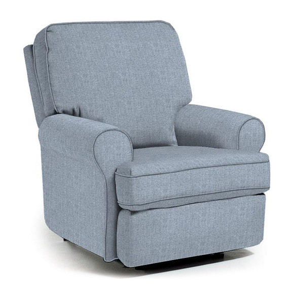 Best Chairs Tryp Swivel Glider Recliner in Sky
