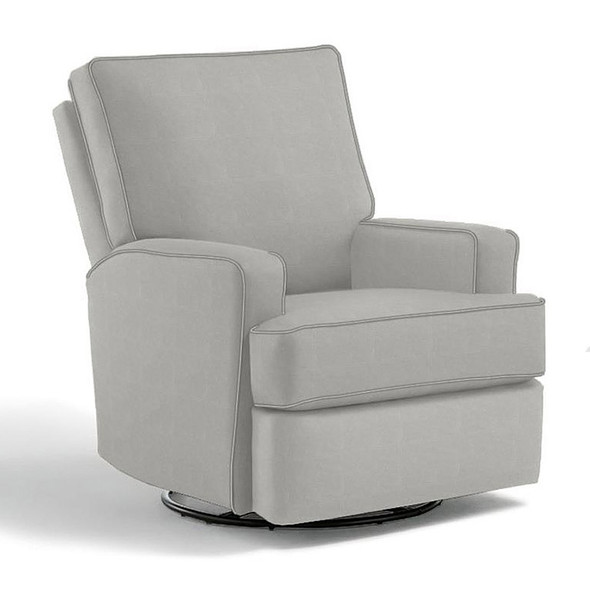 Best Chairs Kersey Swivel Glider Recliner in Grey