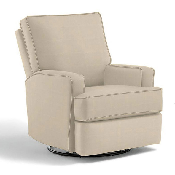 Best Chairs Kersey Swivel Glider Recliner in Taupe
