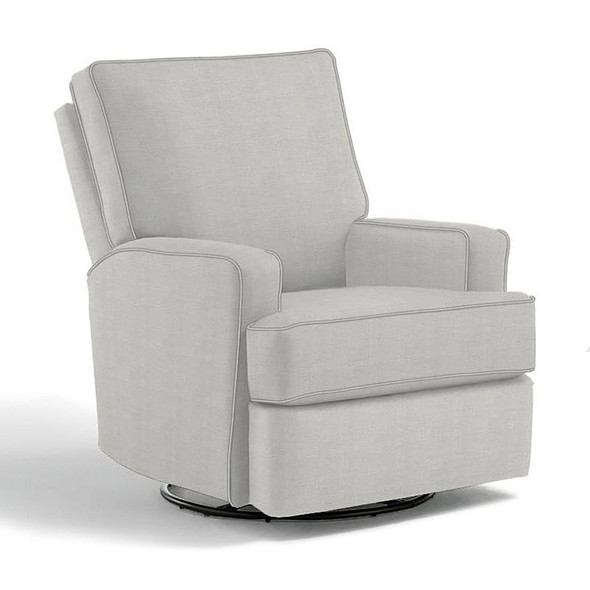 Best Chairs Kersey Swivel Glider Recliner in Sterling