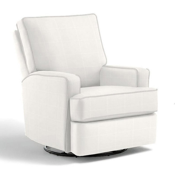 Best Chairs Kersey Swivel Glider Recliner in Ecru