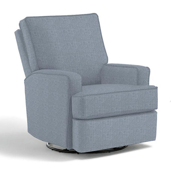 Best Chairs Kersey Swivel Glider Recliner in Sky
