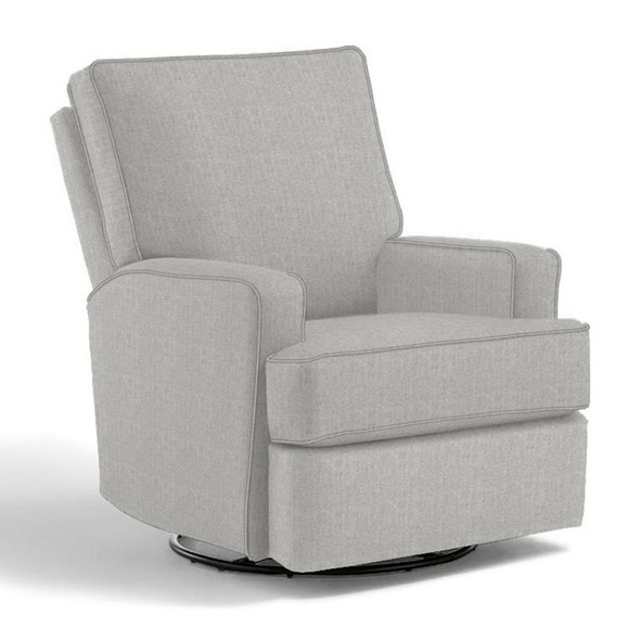 Best Chairs Kersey Swivel Glider Recliner in Performance Dove