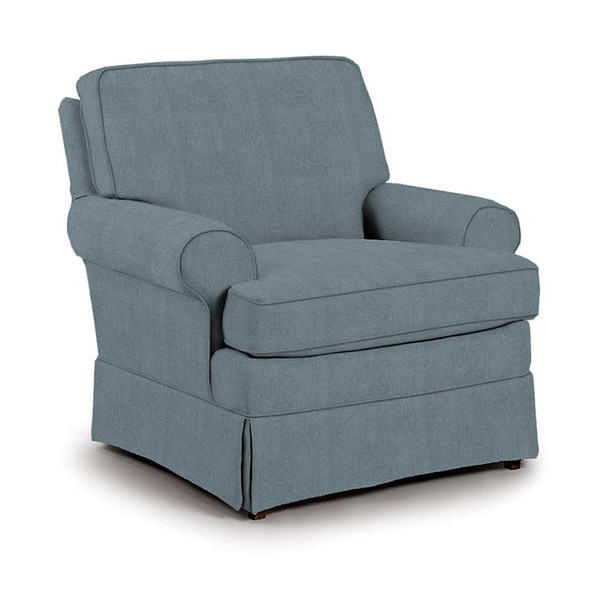 Best Chairs Quinn Swivel Glider in Blue Slate