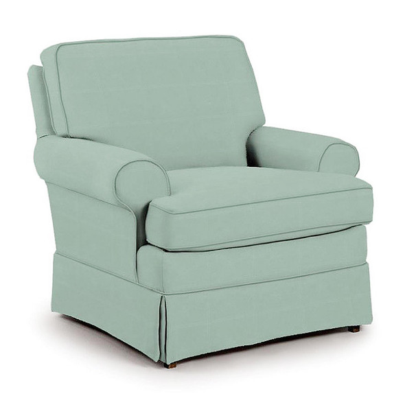 Best Chairs Quinn Swivel Glider in Teal