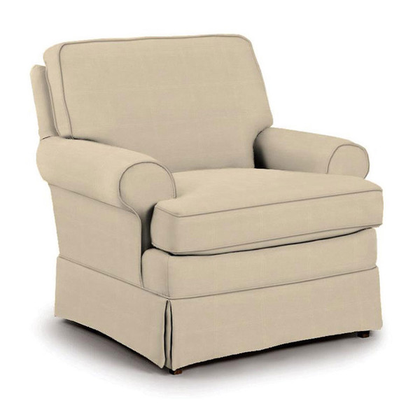 Best Chairs Quinn Swivel Glider in Taupe