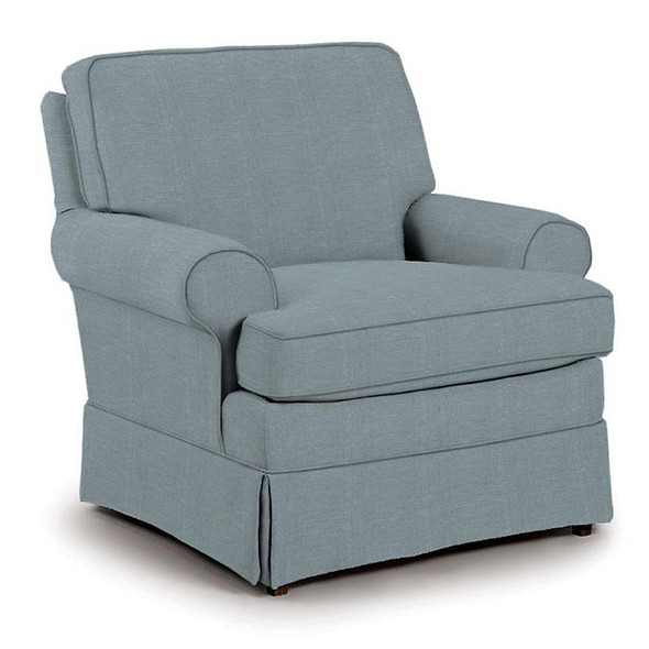 Best Chairs Quinn Swivel Glider in Ultramarine