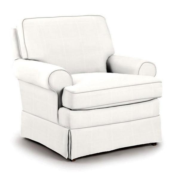 Best Chairs Quinn Swivel Glider in Ecru