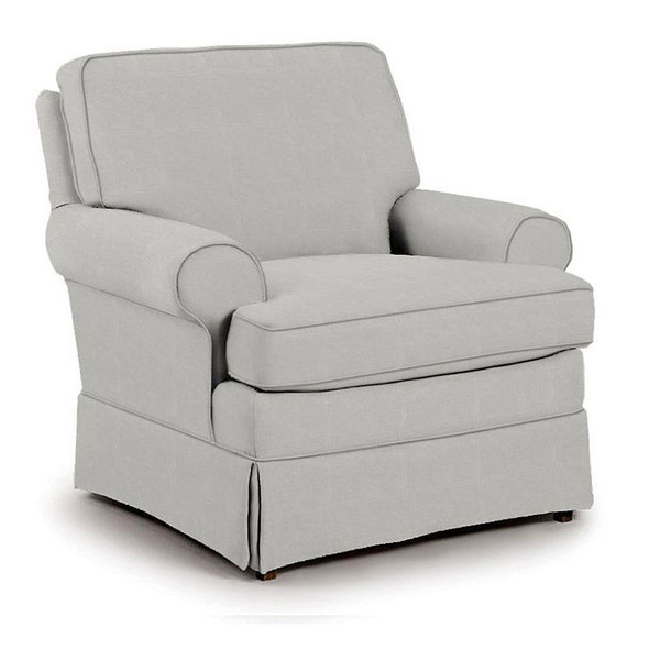 Best Chairs Quinn Swivel Glider in Performance Dove