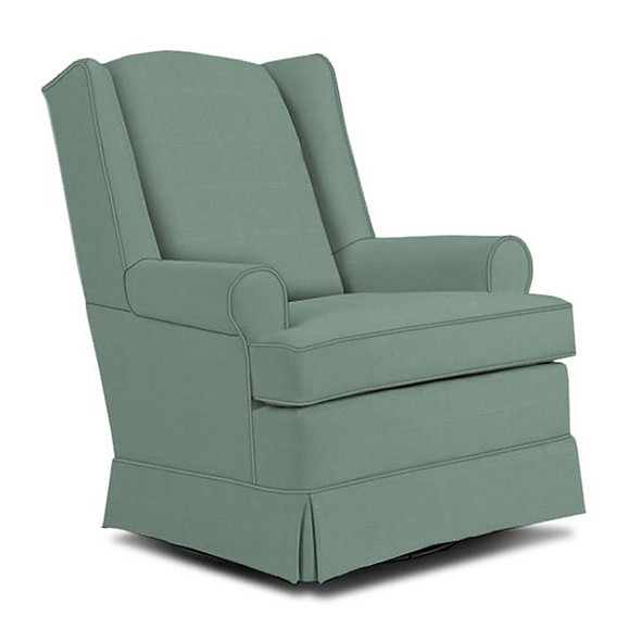 Best Chairs Roni Swivel Glider in Teal