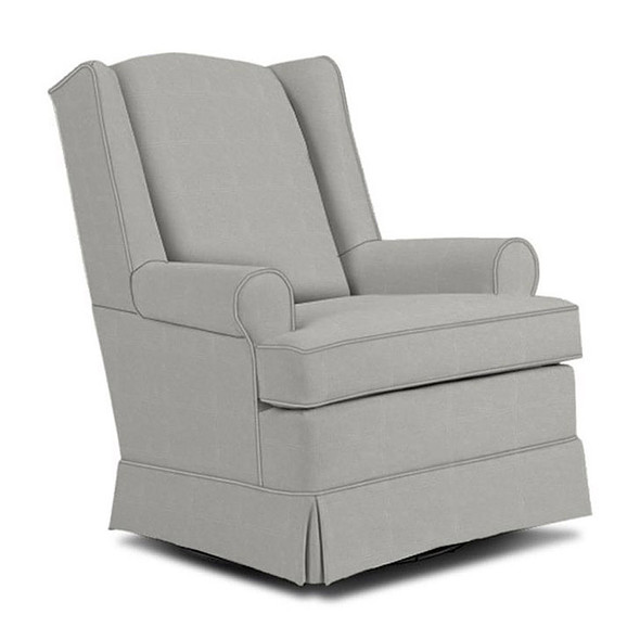 Best Chairs Roni Swivel Glider in Grey
