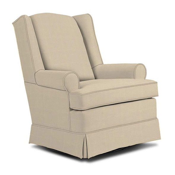 Best Chairs Roni Swivel Glider in Taupe