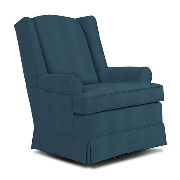 Best Chairs Roni Swivel Glider in Navy