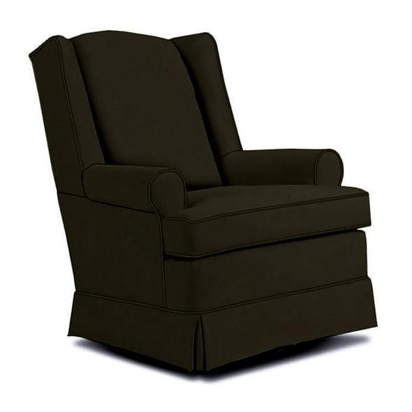 Best Chairs Roni Swivel Glider in Caviar