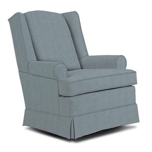 Best Chairs Roni Swivel Glider in Ultramarine