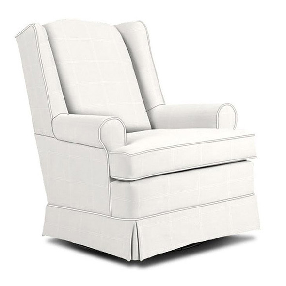 Best Chairs Roni Swivel Glider in Ecru