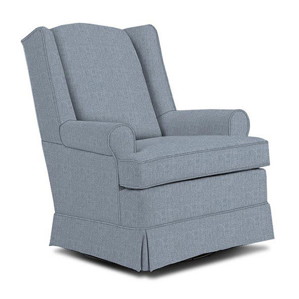 Best Chairs Roni Swivel Glider in Sky
