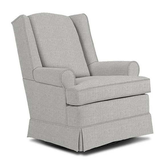 Best Chairs Roni Swivel Glider in Performance Dove