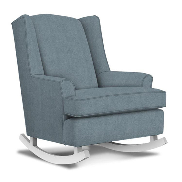 Best Chairs Willow Swivel Glider in Blue Slate