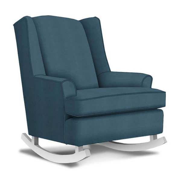 Best Chairs Willow Swivel Glider in Navy