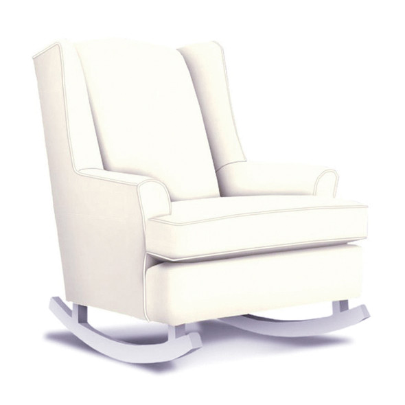 Best Chairs Willow Swivel Glider in Ivory