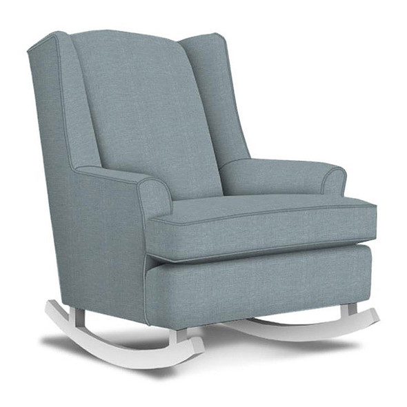 Best Chairs Willow Swivel Glider in Ultramarine