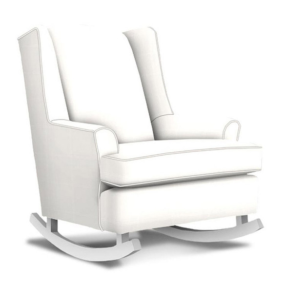 Best Chairs Willow Swivel Glider in Ecru