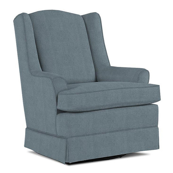 Best Chairs Natasha Swivel Glider in Blue Slate