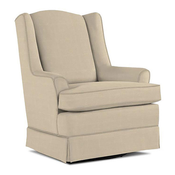 Best Chairs Natasha Swivel Glider in Taupe