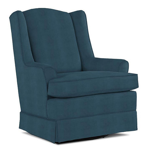 Best Chairs Natasha Swivel Glider in Navy