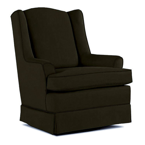 Best Chairs Natasha Swivel Glider in Caviar