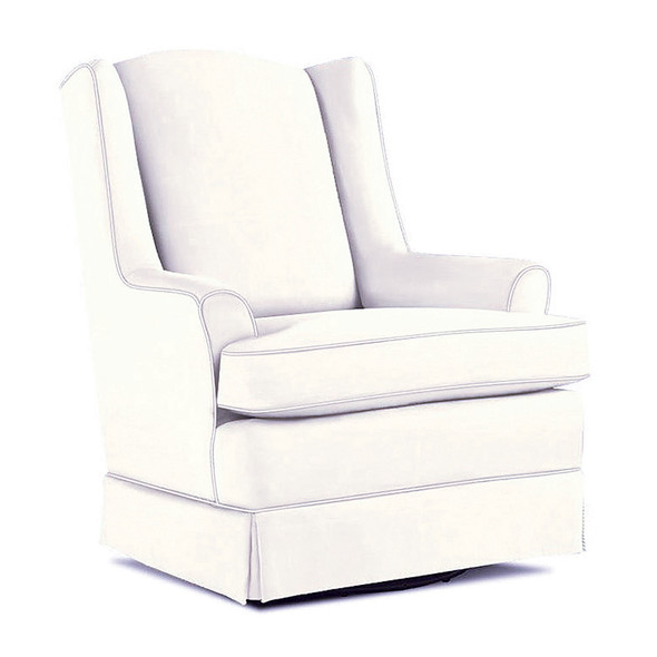 Best Chairs Natasha Swivel Glider in Ivory