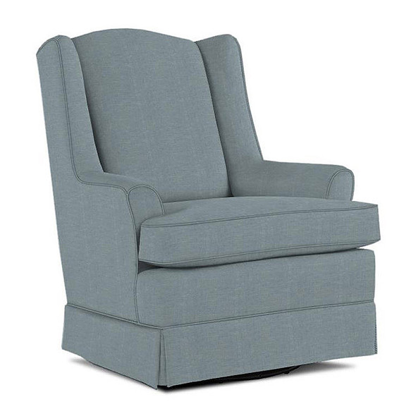 Best Chairs Natasha Swivel Glider in Ultramarine