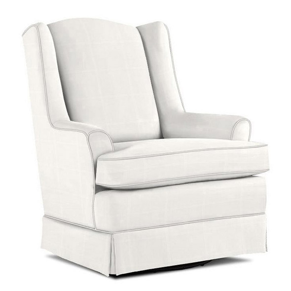 Best Chairs Natasha Swivel Glider in Ecru