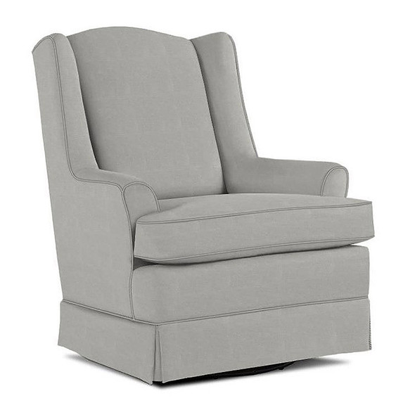Best Chairs Natasha Swivel Glider in Performance Dove