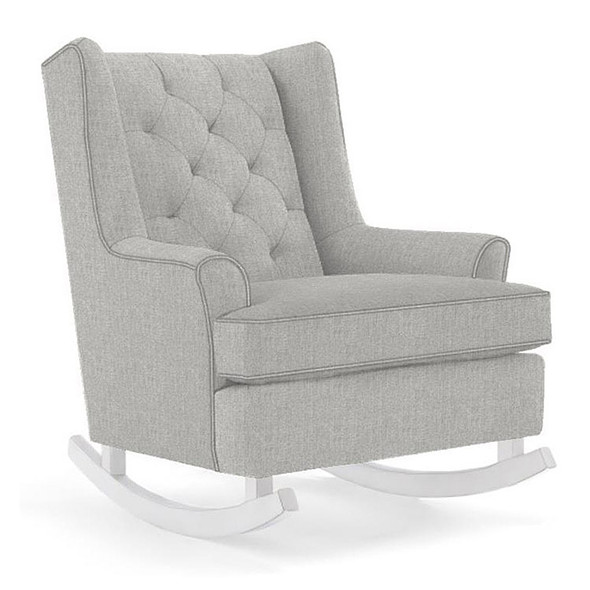 Best Chairs Paisley Swivel Glider in Dove