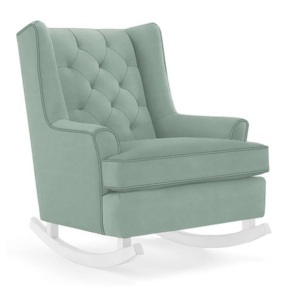 Best Chairs Paisley Swivel Glider in Teal