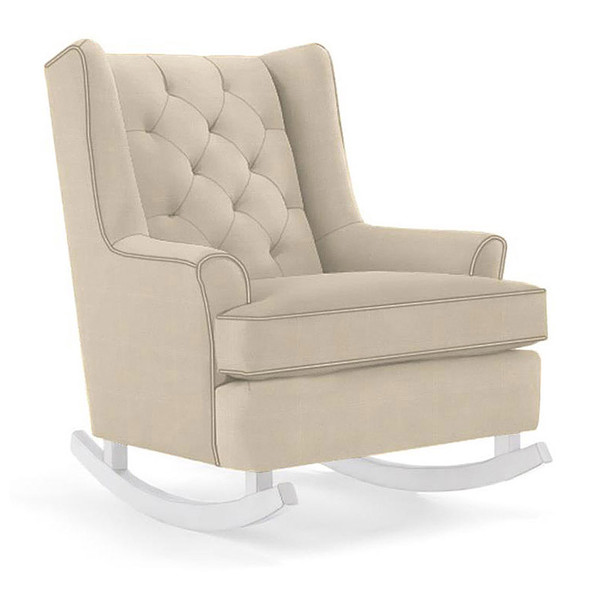 Best Chairs Paisley Swivel Glider in Taupe