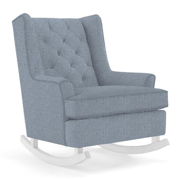 Best Chairs Paisley Swivel Glider in Sky