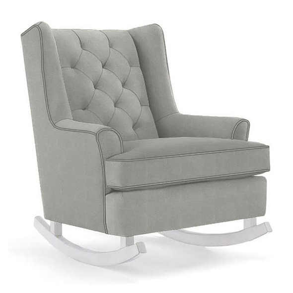Best Chairs Paisley Swivel Glider in Performance Dove