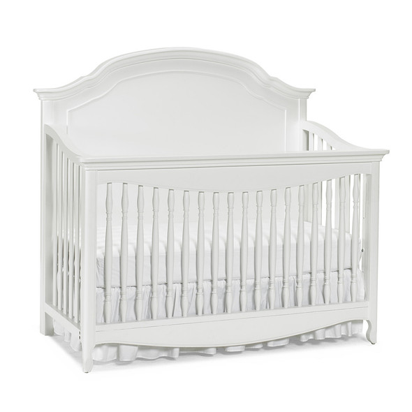 Dolce Babi Alessia Full Panel Convertible Crib in Bright White