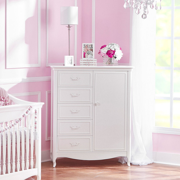 Dolce Babi Alessia 3 Piece Nursery Set in Bright White