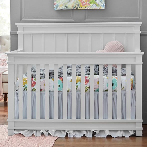 Dolce Babi Bocca Full Panel Convertible Crib in Bright White