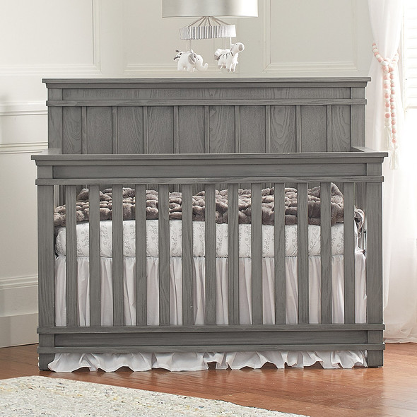 Dolce Babi Bocca 2 Piece Nursery Set - Convertible Crib and Double Dresser in Marina Grey