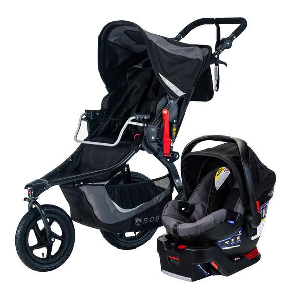 BOB Flex Travel System in Graphite Black
