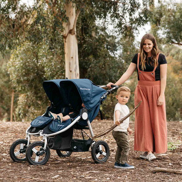 Bumbleride 2020 Indie Twin Stroller in Clay