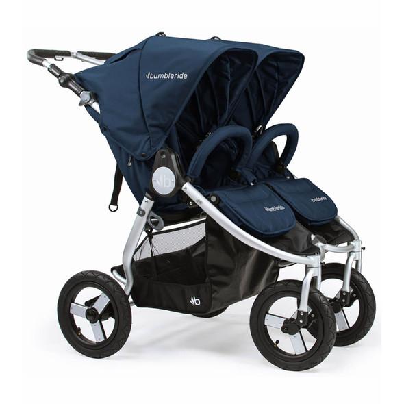Bumbleride 2020 Indie Twin Stroller in Maritime Blue
