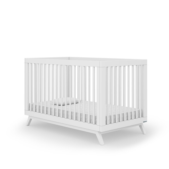 Dadada Soho Collection 2 in 1 Baby Crib in White