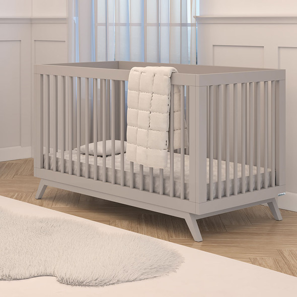 Dadada Soho Collection 2 in 1 Baby Crib in Gray